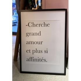 Cadre - Cherche grand amour...
